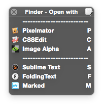 Macro Palette: Finder Open with